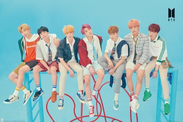 BTS K-Pop posters - BTS Group Blue poster LP21 sexy suga